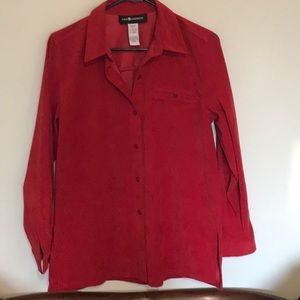 Pretty in Red! Shirt /jacket   Size 8